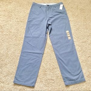 Dockers Field Khaki Men 34x32 Blue Flat Front Pant
